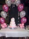 Pink and white 18th birthday cake