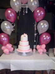 Pink and white 18th birthday cake