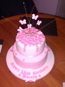 Pink 18th birthday cake