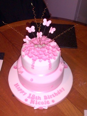 Pink 18th birthday cake