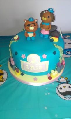 Octonauts theme 3rd birthday cake