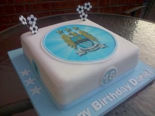 Manchester City MCFC theme 18th birthday cake