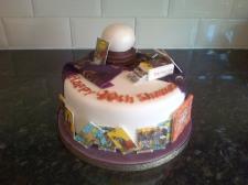 Fortune teller theme birthday cake