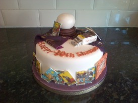 Fortune teller theme birthday cake