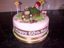 Horse racing theme 60th birthday cake
