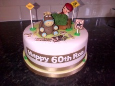 Horse racing theme 60th birthday cake