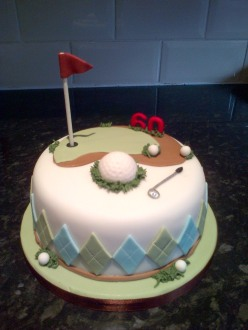 Golf themed 60th birthday cake