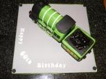 Flying Scotsman steam train theme 60th birthday cake