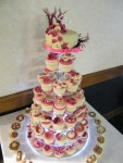 A large cupcake tower