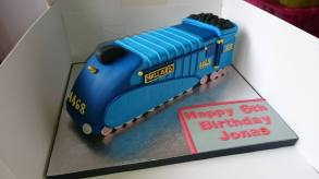Blue mallard steam train 6th birthday cake